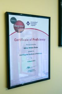 BACP Registered Certificate of Proficiency